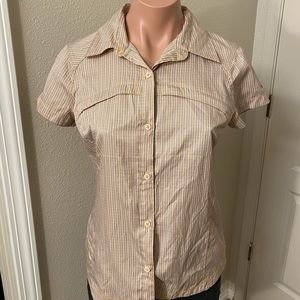 Columbia Omni-Shade Button Up Shirt Sz S